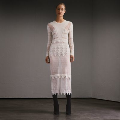 Burberry Burberry Knitted Lace Column Dress