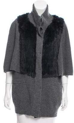 3.1 Phillip Lim Fur-Trimmed Cardigan