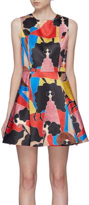 Alice + Olivia 'Stasia' Stacey print pleated dress