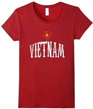Vintage Vietnam Flag T-shirt Vietnamese Pride Soccer Sports
