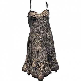 Tocca Purple Cotton Dress for Women