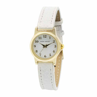 Laura Ashley Petite Band Womens White Strap Watch-La31028yg $295 thestylecure.com