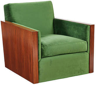 Mr & Mrs Howard Manderley Club Chair - Emerald Velvet