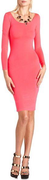 Charlotte Russe Solid Body-Con Midi Dress