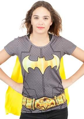 09e928e8 Animewild DC Batman Suit Up Sublimated Womens Caped T-Shirt | M