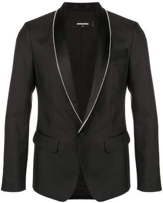 DSQUARED2 Zipper detail lapel blazer