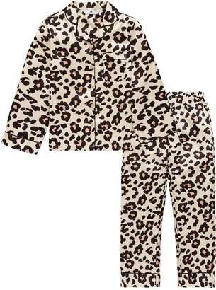 Very Girls Leopard Print Satin Pyjamas - Brown
