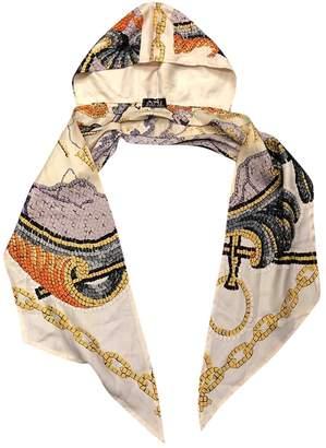 Hermes Vintage Beige Silk Scarves