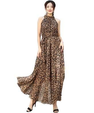 cdbb67f3375 Medeshe Women s Chiffon Floral Holiday Beach Bridesmaid Maxi Dress Sundress