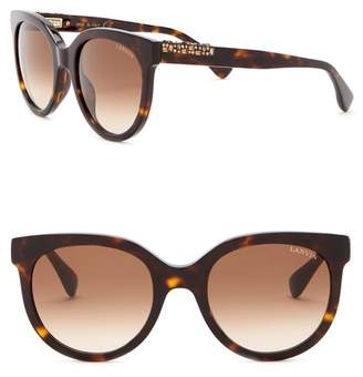 Lanvin 52mm Round Acetate with Swarovski Crystal Sunglasses