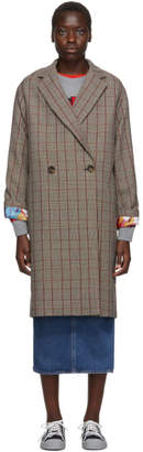 Stella McCartney Black The Beatles Edition Check Wool Trench Coat