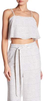 Endless Rose Tiffany Striped Cropped Tank Top