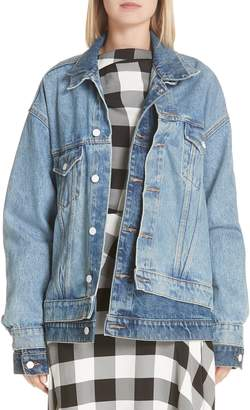 Monse Double Layered Denim Jacket