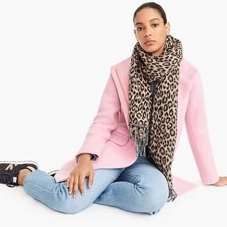 J.Crew Wool-blend scarf in leopard