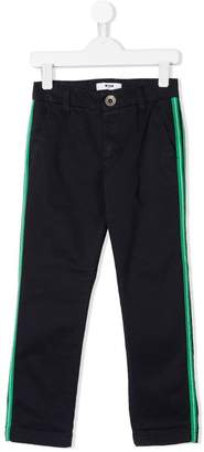 MSGM Kids side stripe chino trousers