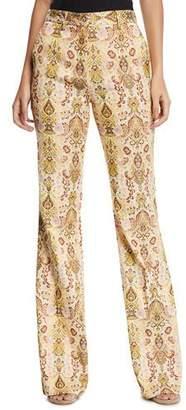 Etro Floral Paisley Jacquard Flare Pants