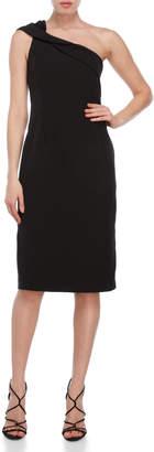 Nanette Lepore Nanette Black Sequin One-Shoulder Sheath Dress