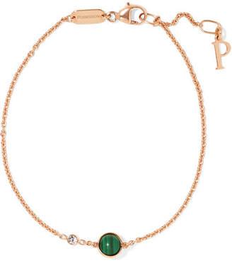 Piaget Possession 18-karat Rose Gold, Malachite And Diamond Bracelet