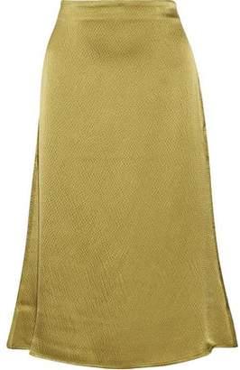 Simon Miller Mayer Textured Silk-Satin Midi Skirt