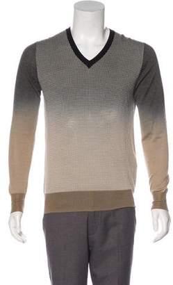 Prada Woven V-Neck Sweater
