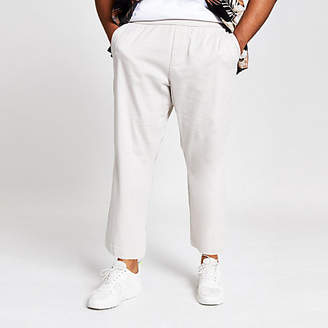 River Island Only and Sons Big and Tall grey wide trousers
