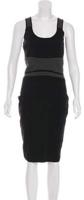 Narciso Rodriguez Striped Sleeveless Dress