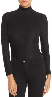 Blank NYC BLANKNYC Long-Sleeve Mock-Neck Metallic Bodysuit