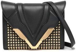 Elena Ghisellini Felina Studded Mirror-paneled Leather Box Clutch