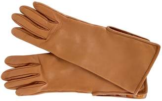 Hermes Camel Leather Gloves