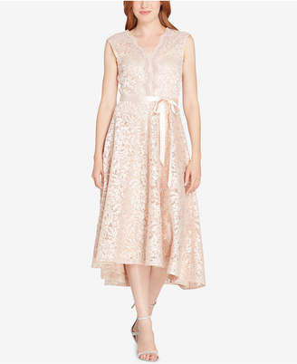 Tahari ASL Scalloped Embroidered Lace Dress