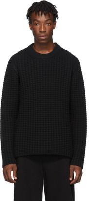 Joseph Black Waffle Knit Sweater