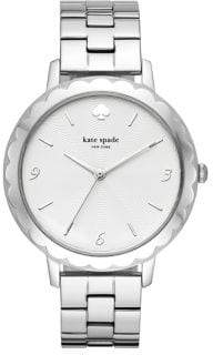 Kate Spade Metro Scalloped Three-Hand Stainless Steel Bracelet Watch