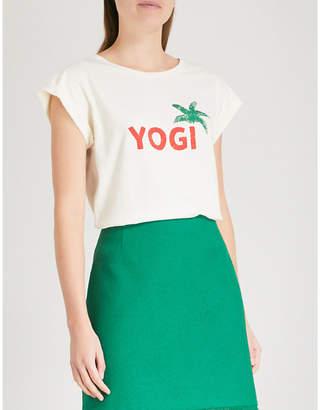Claudie Pierlot Yogi-print cotton-jersey T-shirt
