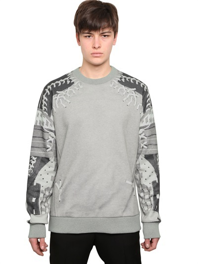 Givenchy Baseball Print Cotton Fleece Sweatshirt