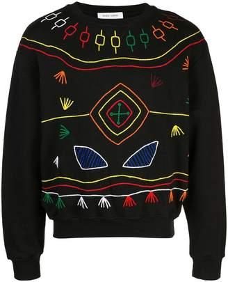 Prabal Gurung thread embroidered sweatshirt