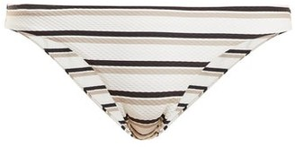 BEIGE Asceno - Low Rise Striped Bikini Briefs - Womens Stripe