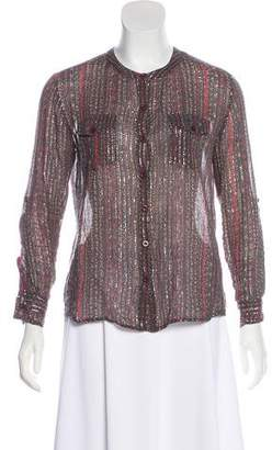 Antik Batik Printed Button-Up Top