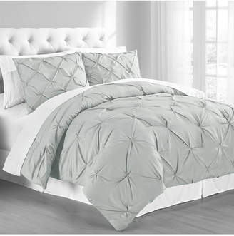 Cathay Home Inc. Premium Collection Twin Pintuck Bedding Comforter Set Bedding