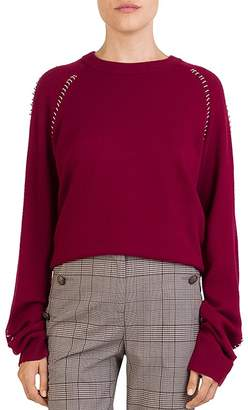 The Kooples Ring-Trim Crewneck Sweater