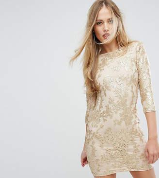 TFNC Mini 3/4 Length Sleeve Sequin Dress