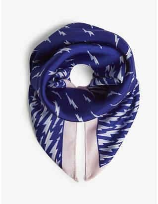 Sandro Square printed silk scarf