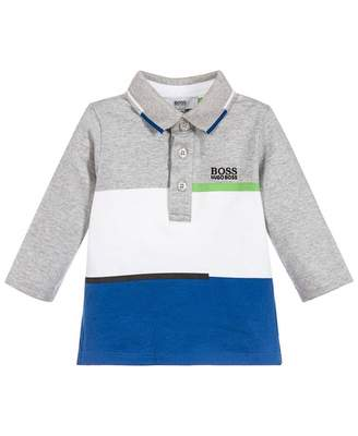 HUGO BOSS Kids Cut And Sew Jersey Long Sleeved Polo