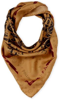 Pollini Silk Contrast Printed Scarf