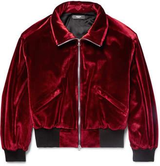 Amiri Padded Velvet Blouson Jacket