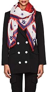 Givenchy Women's Iconic Flash Silk-Cashmere-Blend Scarf - Red