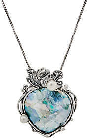 Or Paz Sterling Silver Roman Glass Pendantwith Chain