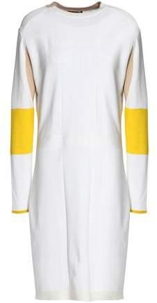 Color-Block Stretch-Knit Mini Dress