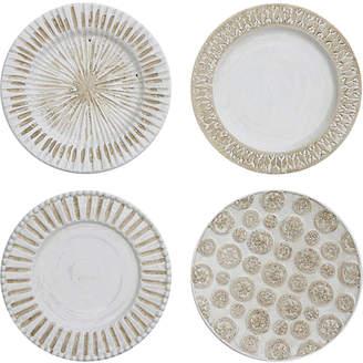 Round Decorative Ceramic Wall Plates, Set of 4