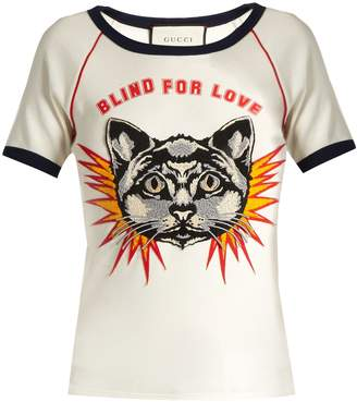 Gucci Blind for Love-print cotton-jersey T-shirt