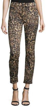 JEN7 Leopard-Print Skinny Ankle Jeans $169 thestylecure.com